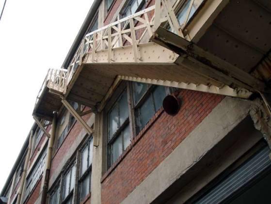 Fire escape at the Progress Paint property (BS File Photo)