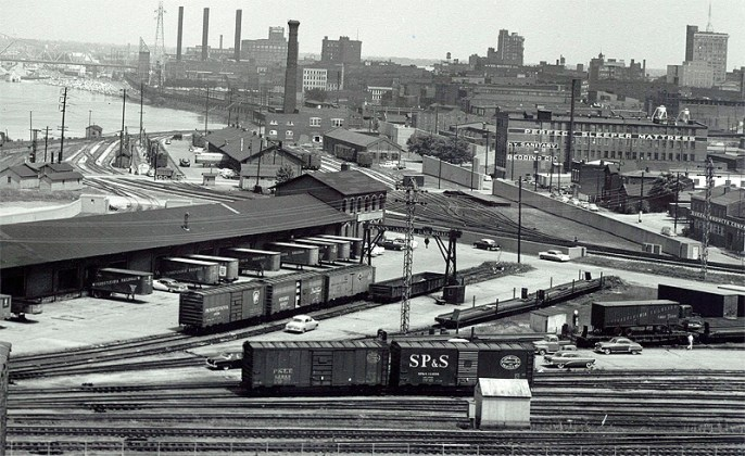 Shippingport railyards long ago (Courtesy R.D. Schooling)