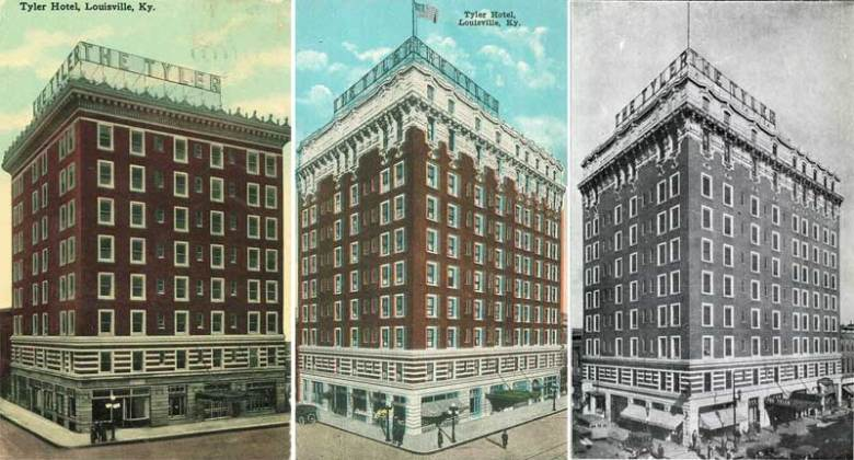 Original Tyler Hotel and later additions (BS Postcard Archives)