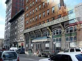 Watterson Hotel was once on Muhammad Ali Boulevard (Broken Sidewalk)