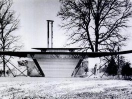 Bruce Goff's Irma Bartman Residence, aka Triaero (Courtesy Goff Archives, Art Institute of Chicago)