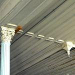Ceiling with cast iron column. (Broken Sidewalk)