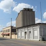 Grain Silos along Beargrass Creek (Broken Sidewalk)
