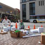 CART built a model city for Park(ing) Day. (Branden Klayko)