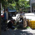 A crowd enjoys a pop-up park on Fourth Street. (Branden Klayko)