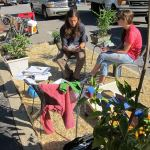 Bicycling for Louisville's Park(ing) Day pop-up park. (Mary Beth Brown)