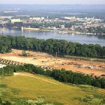 Aerial view of RiverPark Place under construction on May 25, 2007. (Courtesy Metro Lou)