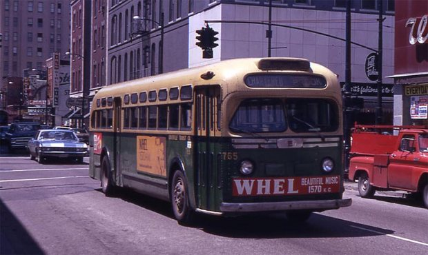 Bus 75 at Fourth and Chestnut streets. (Courtesy TARC)