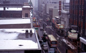Fourth Street route circa 1968. (Courtesy TARC)