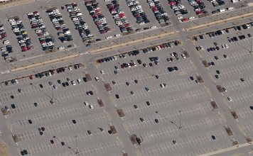 A parking lot at the KFEC. (Bing Maps)