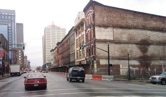 Whiskey Row on Main Street.