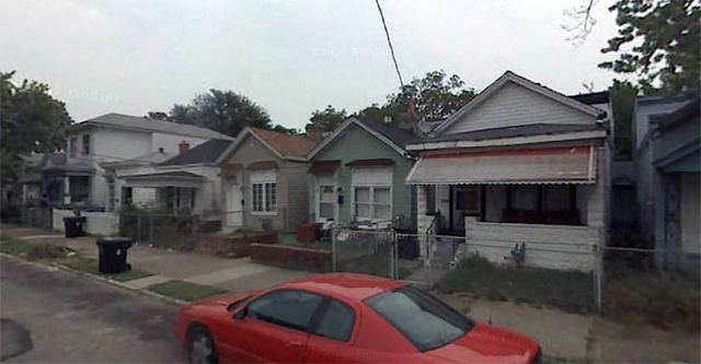 Many shotguns houses are typical in the demolition zone. (Google Maps)