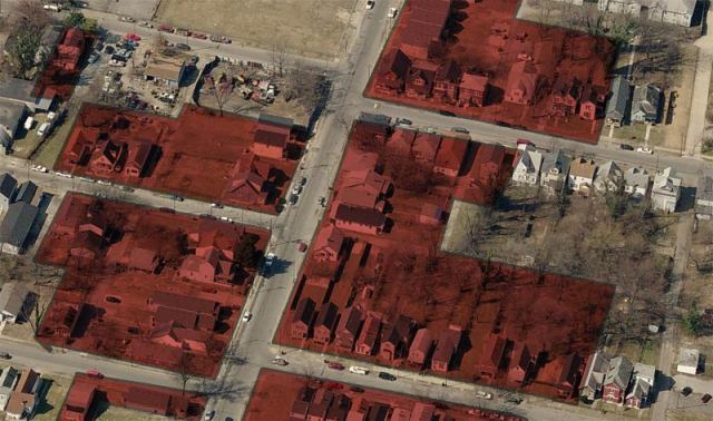 A section of the demolition zone. (Bing Maps)