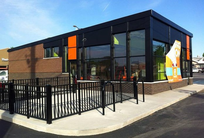 The New Orange Leaf Fro-Yo building. (Courtesy Forza Architecture)