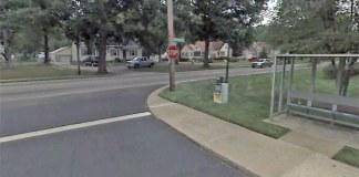 Bus stop near the deadly collision. (Courtesy Google)