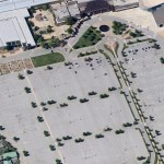 Bikes are banned from parking lots at the fairgrounds. (Courtesy Bing)