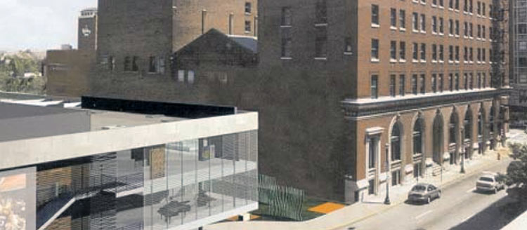 Rendering of circa 2000 proposal on Third Street. (From 2002 Downtown Development Plan)