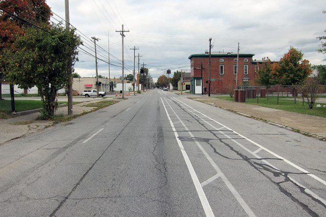 A new buffered bike lane on Breckinridge Street. (Branden Klayko / Broken Sidewalk)