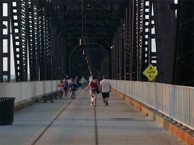 The Big Four Bridge has been good for business in Jeffersonville. (Aaron Renn)