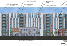 The Main Street facade of the Clay & Main development. (Courtesy Bristol Development Group)