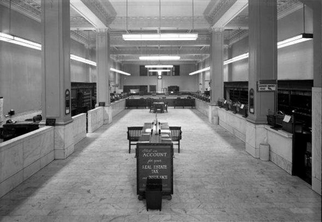 Inside the armory in 1951 prior to renovations. (Courtesy UL Photographic Archives)