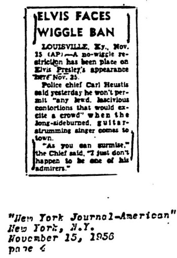 "A clipping from the New York Journal-American in 1956 described the ""Wiggle Ban."""