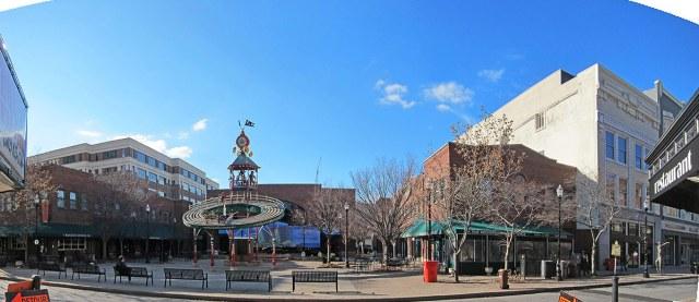 Theater Square as it appears today. (Branden Klayko / Broken Sidewalk)