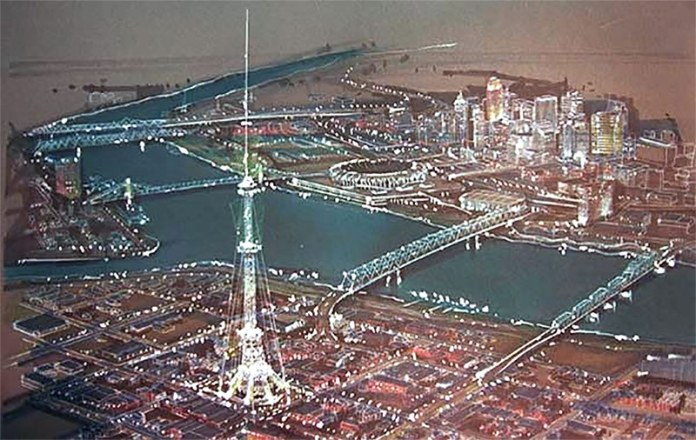 Rendering of Millennium Freedom Tower 2000 in Newport, Ky. (Courtesy the developer via various websites)