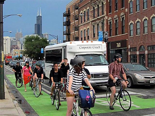 Milwaukee Avenue, Chicago. (Courtesy CDOT)