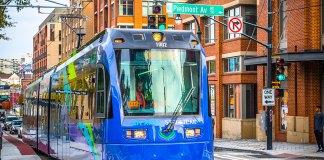 Atlanta's new streetcar system. (Lauren Holley / Courtesy Central Atlanta Progress)
