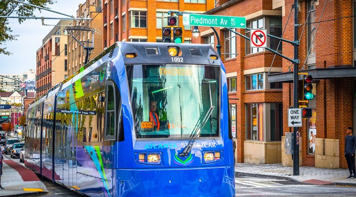 Atlanta's new streetcar system. (Lauren Holley / Courtesy Central Atlanta Progress)
