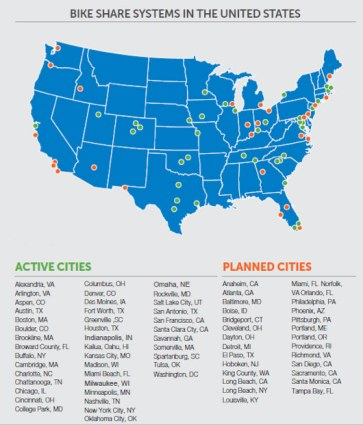 Bike share is gaining momentum in cities across the nation. (Courtesy Bike Louisville)