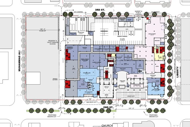 The Omni's ground floor plan. (Courtesy HKS)