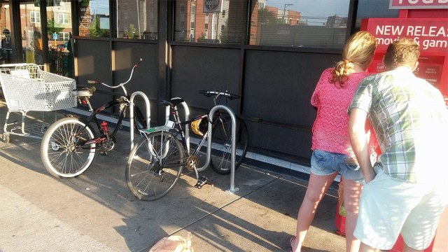 The fixed bike rack. (Courtesy Bicycling for Louisville)