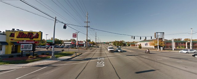 Pedestrians must walk over 122 feet of pavement to cross Bardstown Road. (Courtesy Google)