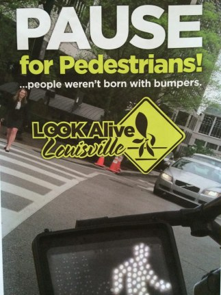 An ad running as part of the street safety campaign. (Courtesy Metro Louisville)