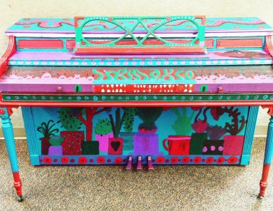 Rosenberry's painted street piano. (Courtesy Rosenberry)