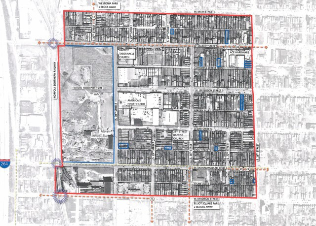 Target area for Russell's mesh network. (Courtesy Metro Louisville)