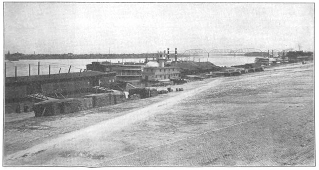 The Louisville wharf was one of the last stops on the journey west.