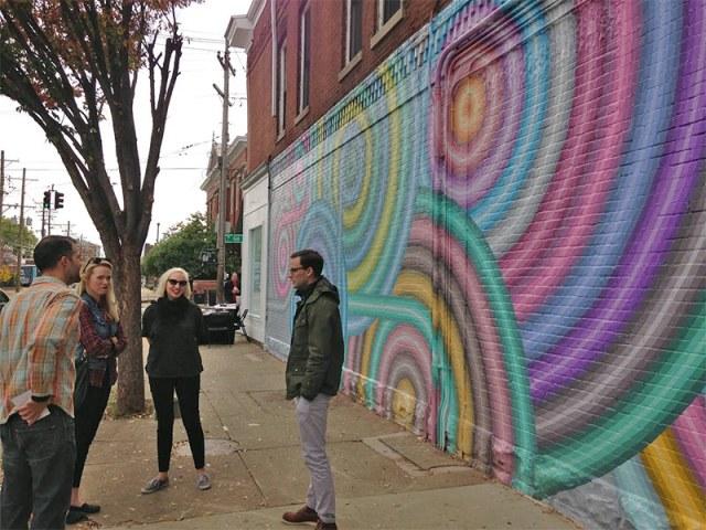 A scene from the mural celebration. (Elijah McKenzie / Broken Sidewalk)