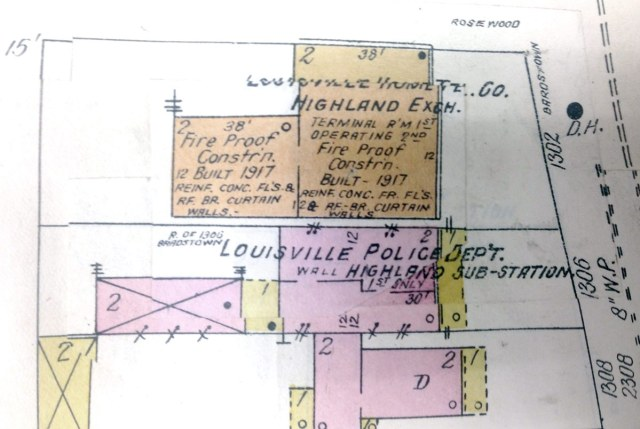 A 1927 map showing details of the buildings. (Courtesy Tipster)