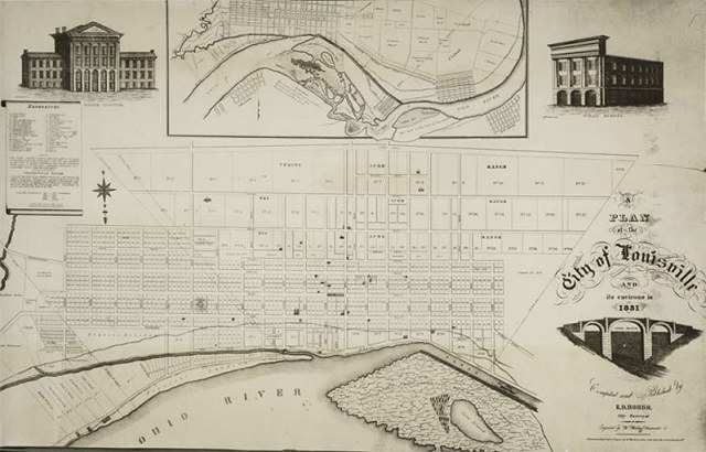 A map of Louisville in 1831. (Courtesy UL Archives - Reference)