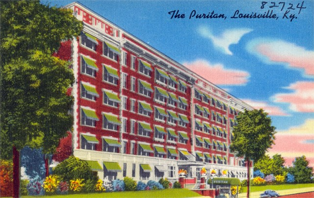 A postcard of the Puritan Apartments showing a later expansion to the north. (Courtesy Boston Public Library)