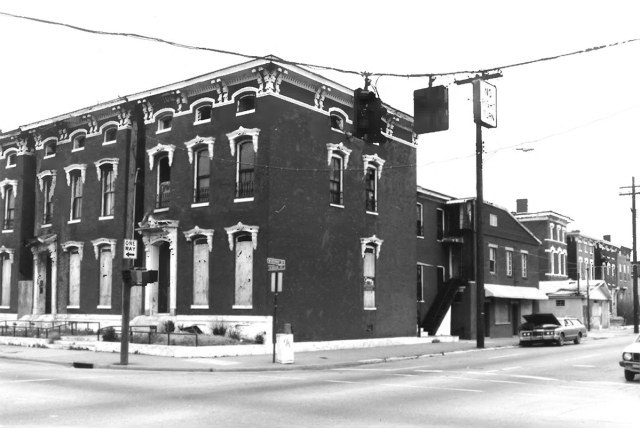 The corner of Brook Street and Breckinridge Street in the early '80s. (Courtesy National Register)