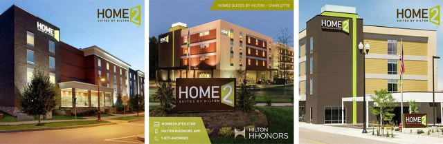 Example four-story Home2 Suites in other cities. (Courtesy Home2 Suites)