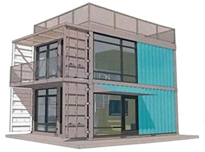 Conceptual mockup of the Schnitzelburg Container Apartments. (Courtesy development team)