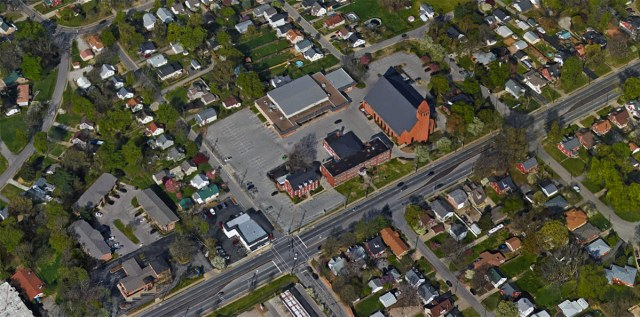 Aerial view of the Holy Family campus. (Courtesy Google)