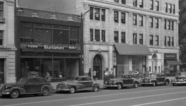 Broadway retail in the Fincastle Building circa 1947. (Courtesy UL Archives - Reference)