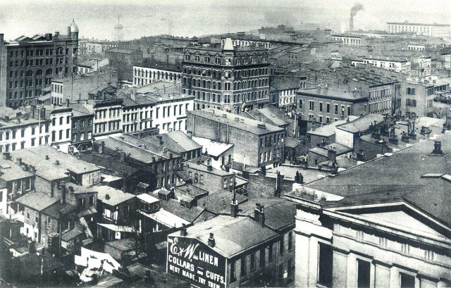 The Louisville skyline in 1889. (Credit Unknown)
