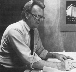 Architect Jasper Ward worked on the early design of the house.